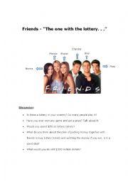 English Worksheet: Friends - Infinitive of purpose