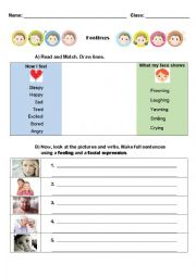 English Worksheet: Emotions and Facial Expressions