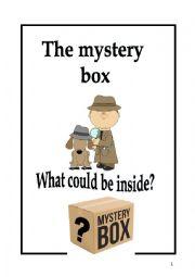 English Worksheet: The mystery box