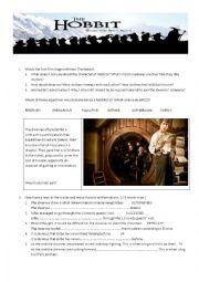 English Worksheet: The Hobbit