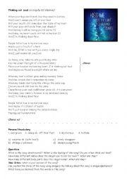 English Worksheet: Thinking Out Loud (Ed Sheeran)