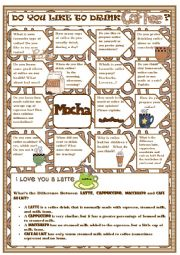 English Worksheet: Do you like to drink coffee? - Speaking activity