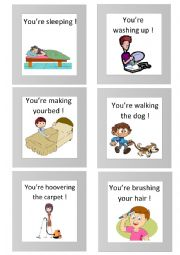 English Worksheet: 18 mime flashcards (activities)  1/2