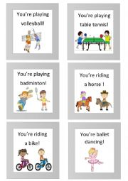 18 mime flashcards (sports) 2/2