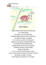 English Worksheet: poem