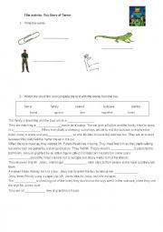 English Worksheet: Film activity: Toy Story of Terror