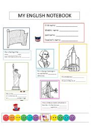 English Worksheet: notebook cover AE