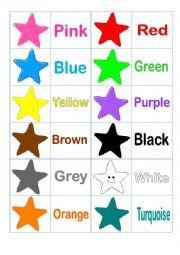 English Worksheet: Colors (memory game)