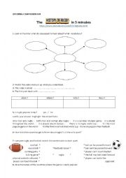 English Worksheet: the history of rugby in 5 minutes part 1