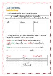 English Worksheet: Meet the Browns Third Hour