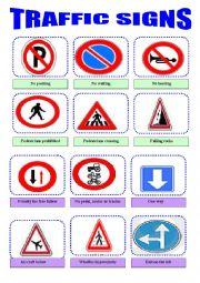 English Worksheet: Traffic rules and sysmbols