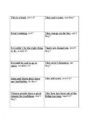 English Worksheet: Positive Negative Sentence tags
