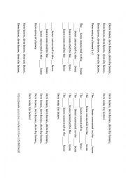 English Worksheet: Fill in the song - Dem bones