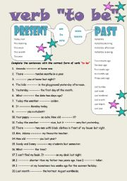 English Worksheet: Present and Past of verb