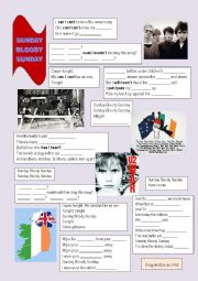English Worksheet: Sunday Bloody Sunday