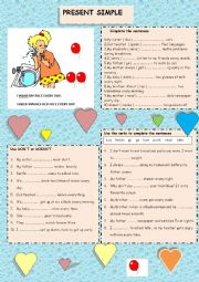 English Worksheet: Simple present tense
