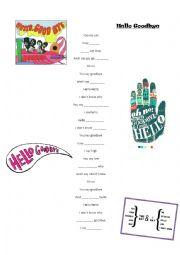 English worksheet: Hello Goodbye