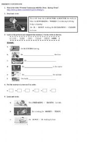 English Worksheet: MR. BEAN_SPRING CLEANING