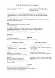 English Worksheet: Cambridge FCE or CAE Speaking Exam : Tutorial for