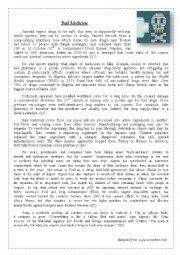 English Worksheet: Fake Pharmacy