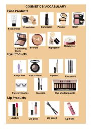 english worksheets makeup and cosmetic vocabulary. Black Bedroom Furniture Sets. Home Design Ideas