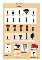 makeup accessories vocabulary