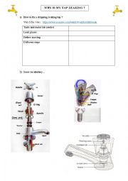 english worksheets why is my tap leaking. Black Bedroom Furniture Sets. Home Design Ideas