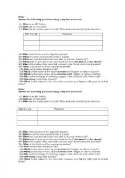 English Worksheet: cells, digestive system and respiratory system quiz