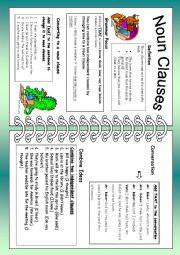 English Worksheet: Noun Clauses: Using That