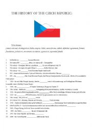 English Worksheet: History of the Czech Republic
