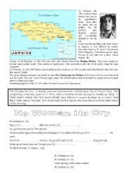 English Worksheet: Biographical Writing - Bob Marley