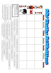 English Worksheet: Daily Activities