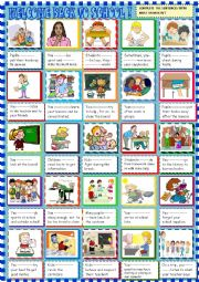 English Worksheet: Must / musntn�t  with school rules