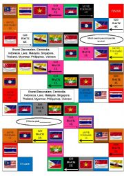 English Worksheet: ASEAN board game