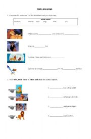 english worksheets the lion king movie worksheet. Black Bedroom Furniture Sets. Home Design Ideas