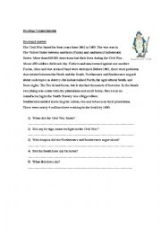 English Worksheet: Civil war