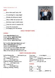 English Worksheet: always song by bon jovi