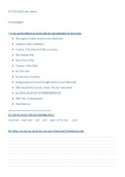 English Worksheet: BOWLING FOR COLUMBINE CARTOON