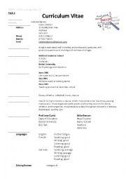 English Worksheet: CV & covering letter