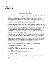 english worksheets apartheid in south africa. Black Bedroom Furniture Sets. Home Design Ideas