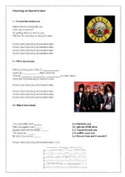 English Worksheet: Guns ´n Roses - Knocking on Heaven´s Door