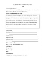 English Worksheet: TO BE OR NOT TO BE LIKE LEONARDO DA VINCI