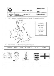 English Worksheet: British Culture test