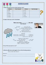 English Worksheet: Present Perfect practice through a simple song