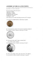 English Worksheet: American Coins
