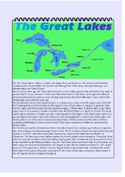 English Worksheet: The Great Lakes
