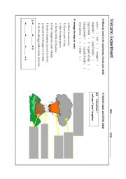 English Worksheet: volcano