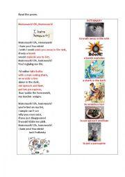 Poems about homework oh homework
