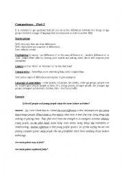 English Worksheet: Part 3 IELTS - Comparison questions