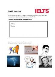 English Worksheet: Part 1 Speaking - IELTS